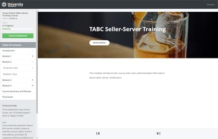 TABC Online Course Screenshot
